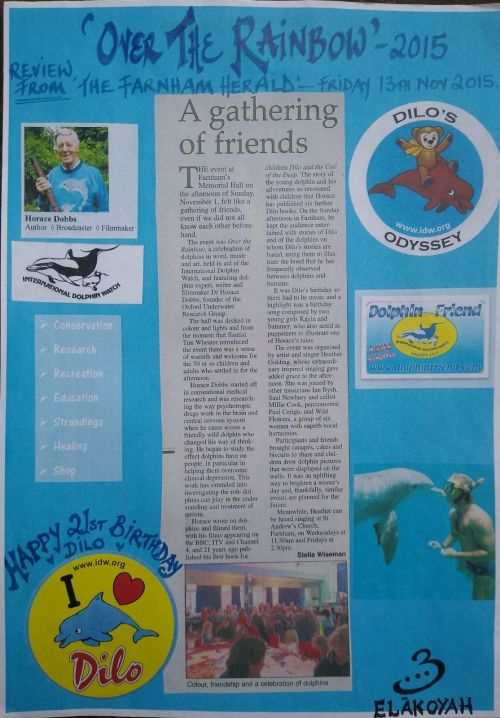 review on blue paper